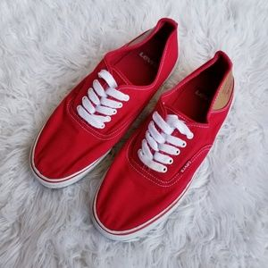 Levis red canvas lace up sneakers mens 10